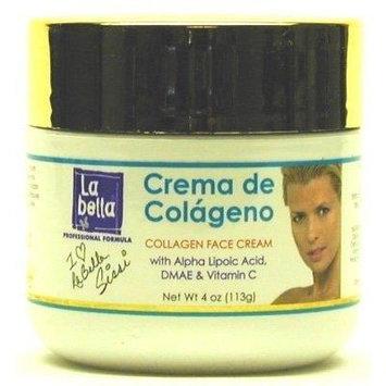 La Bella Crema De Colageno Face Cream 4 oz. Jar (3-Pack) with Free Nail File