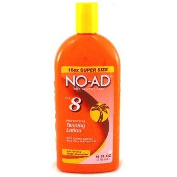 No-Ad Tanning Lotion SPF# 8 16 oz. (3-Pack) with Free Nail File
