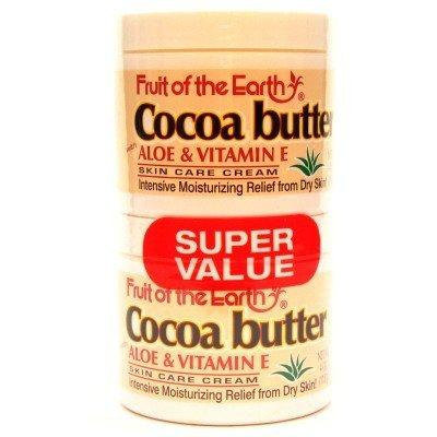 Fruit of the Earth Cocoa Butter 4 oz. + 4 oz. Jars (3-Pack) with Free Nail File