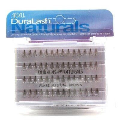 Ardell Duralash Naturals Flare Medium Brown (56 Lashes) (3-Pack) with Free Nail File