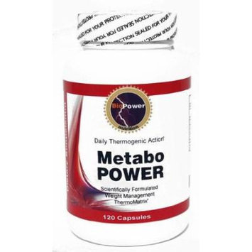 Metabo POWER Energy Thermogenic Weight Loss / Calcium Pyruvate, Korean Ginseng, L-Phenylalanine, L-Tyrosine, Chromium Polynicotinate / 120 capsules