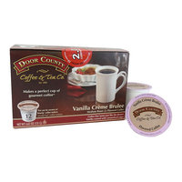 Door County Coffee & Tea Co. Vanilla Creme Brulee Flavored Coffee 12-pk. Single Serve Cups