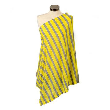 Itzy Ritzy Nursing Happens Infinity Breastfeeding Scarf - Canary Yellow Stripe