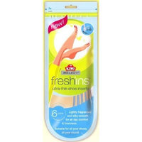 Kiwi Select Freshins Fragranced Ultra Thin Shoe Inserts (Womens Size 5-6)..6 Pairs Per Pack 2 Pack Total 12 Pairs
