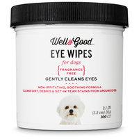 Well & Good Dog Eye Wipes, Pack of 100 wipes