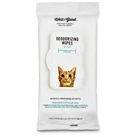 Well & Good Deodorizing Cucumber Melon Cat Wipes, Pack of 24 wipes