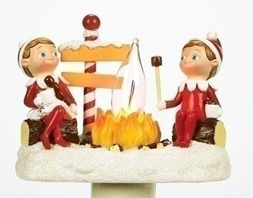 Roman 4.5 Elf on the Shelf North Pole Elf Campfire Site Flickering Christmas Night Light