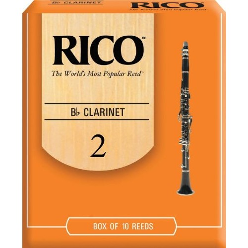 Rico Bb Clarinet Reeds, Strength 2.0, 10-pack [Strength 2.0, 10-pack]