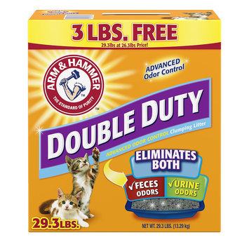 Arm & Hammer Double Duty Advanced Odor Control Clumping Cat Litter, 29.3 lbs.