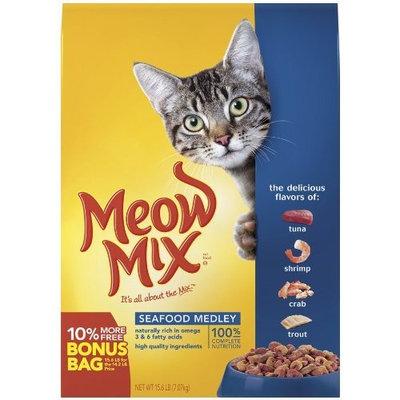Meow Mix Seafood Medley, Bonus, 15.6-Pound Bag