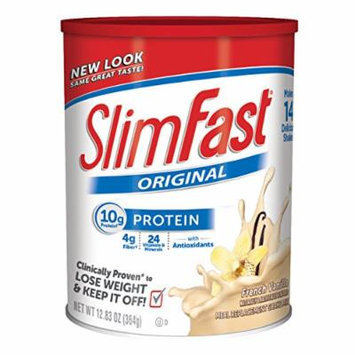 Slim Fast Original, Meal Replacement Shake Mix, French Vanilla, 12.83 Ounce (Pack of 3)