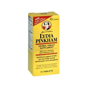 Pack of 3 EACH PINKHAM LYDIA TAB (HERBAL) 72TB PT384...