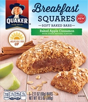 Quaker® Breakfast Squares Apple Cinnamon Soft Baked Bars