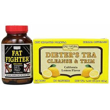 Only Natural Diet Program, California Lemon Flavor, 24-Count, Additional bottle 120 Tablet.