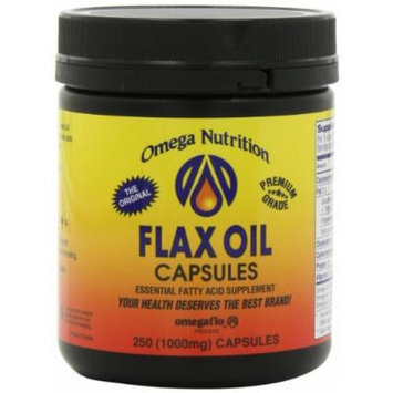 Omega Nutrition Flax Seed Oil Capsules, 250-Count