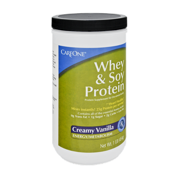 CareOne Whey & Soy Protein Creamy Vanilla Protein Supplement