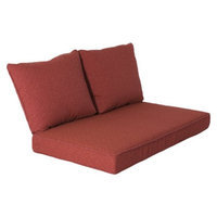 Grand Basket Mooreana 3-Piece Outdoor Loveseat Replacement Cushion Set - Red