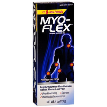 Myoflex Pain Relieving Cream, Trolamine Salicylate 10%, 4 oz