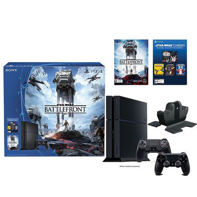 Sony Playstation 4 Star Wars Battlefront 500GB PS4 Bundle with Charging Station (BD-PS4-SW-KHL), Multi/None