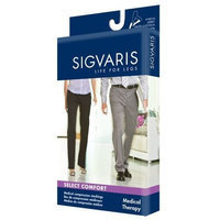 Sigvaris 860 Select Comfort Series 20-30 mmHg Open Toe Unisex Knee High Sock Size: M3, Color: Black 99