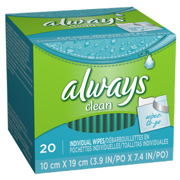 Always Lightly Scented Wipes-to-Go 20 Count