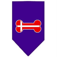 Ahi Bone Flag Denmark Screen Print Bandana Purple Small