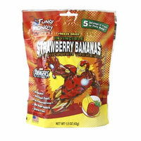Funky Monkey Snacks Invincible Strawberry-Bananas (Iron Man), Strawberry-Bananas, 1.5 oz
