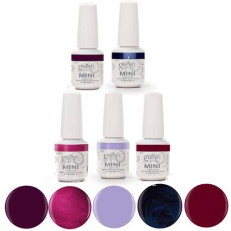 Gelish Mini 5 Bottle Gel Soak Off Nail Polish Collection - 9mL