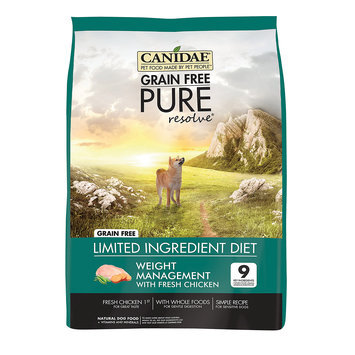 Canidae Grain Free Pure Resolve Weight Management Adult Dog Food, 4 lbs.