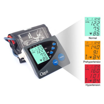 Ozeri BP4M Arm Blood Pressure Monitor with Hypertension Color Alert Technology