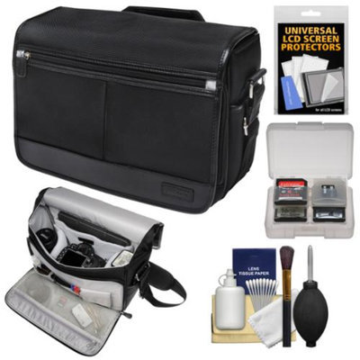 Nikon DSLR Camera/Tablet Messenger Shoulder Bag with Accessory Kit for D3200, D3300, D5200, D5300, D7000, D7100, D610, D750, D810, Df, D4S