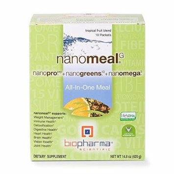 BioPharma Scientific NanoMeal All-in-One Meal, 1.4 Ounces, Tropical Fruit Blend (Pack of 10)