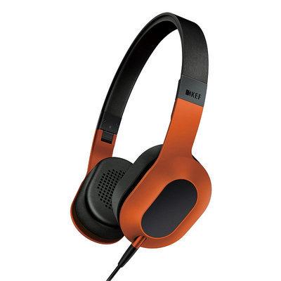 KEF M400 Hi-Fi Headphones - Sunset Orange, Volcano Burst