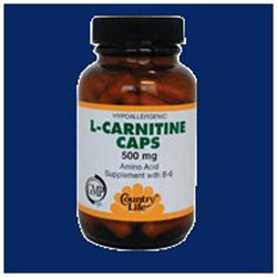 Country Life Vitamins Country Life L-Carnitine Caps - 500 mg - 60 Vegetarian Capsules