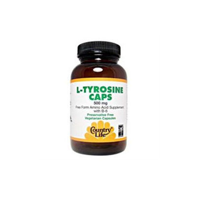 Country Life L-Tyrosine 500 mg + B6 VCaps