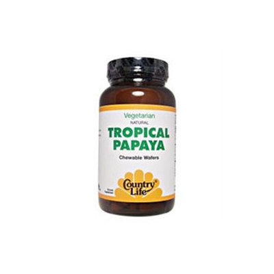Country Life - Natural Tropical Papaya 25 mg. - 500 Chewable Wafers