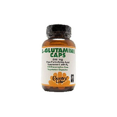 Country Life L-Glutamine Caps - 500 mg - 100 Vegetarian Capsules