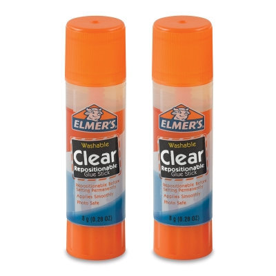Elmer's Washable Repositionable Glue Sticks Clear - 2ct