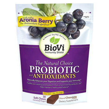 BioVi The Natural Choice Probiotic and Antioxidants Chocolate 30 Chewable Tablets