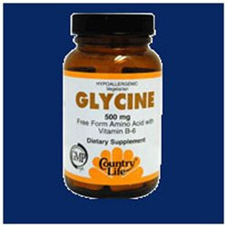 Country Life Glycine - 500 mg - 100 Tablets