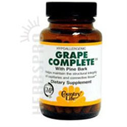 Grape Complete W/pine Brk 60 Vcap By Country Life Vitamins (1 Each)