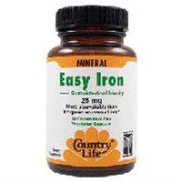 Country Life - Easy Iron 25 mg. - 90 Vegetarian Capsules