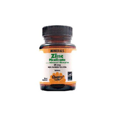 Country Life Zinc Picolinate - 25 mg - 100 Tablets
