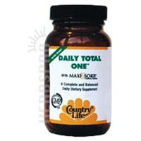 Daily Total One W/iron 30 Vcap By Country Life Vitamins (1 Each)