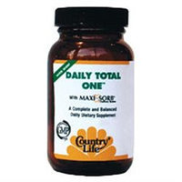 Daily Total One W/iron 60 Vcap By Country Life Vitamins (1 Each)