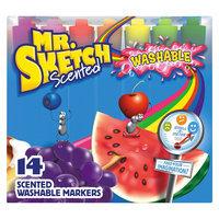 Mr. Sketch Washable Markers, Chisel, Assorted Colors, 14/Set