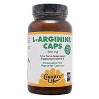 Country Life L-Arginine Caps - 500 mg - 100 Vegetarian Capsules
