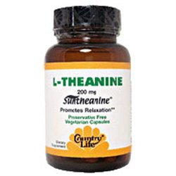 Country Life L-Theanine - 200 mg - 60 Vegetarian Capsules