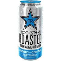 AMP RockStar Roasted with Almond Milk Light Vanilla Energy + Coffee Drink, 15 fl oz