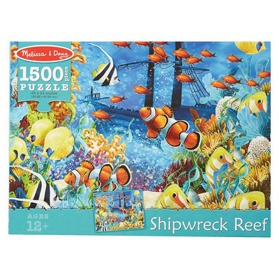 Melissa & Doug Shipwreck Reef 1500 pc Jigsaw Puzzle